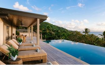 Pool deck of the 6 bedroom residence