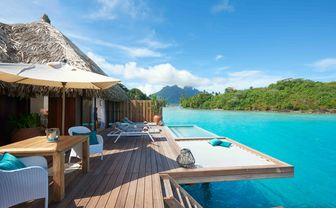 Conrad Bora Bora Nui royal pool overwater villa