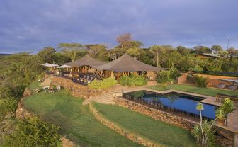 Louisaba tented camp and pool from above
