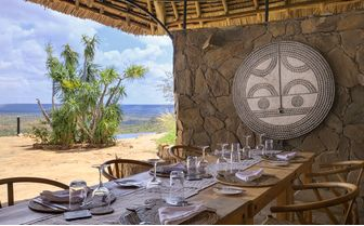 Private dining area at Louisaba