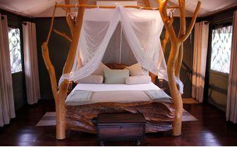 Luxury tent bed