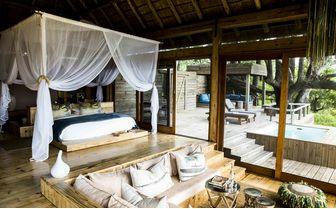 Luxurious guest tent