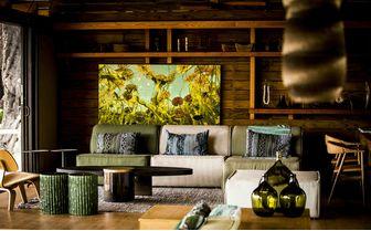 Luxurious lounge area