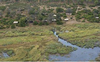 Aerial view of Linyanti Bush Camp