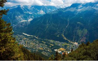 Aerial view of Chamonix