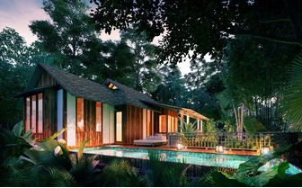 Rainforest pool villa