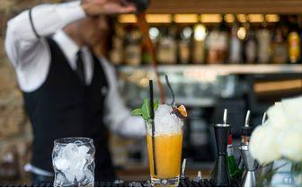 Terrace bar cocktail
