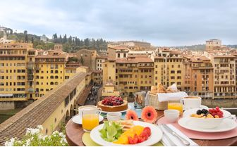 Breakfast view over Florence