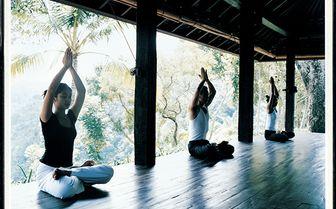 yoga practice at COMO