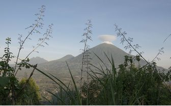 View to the volcanoes