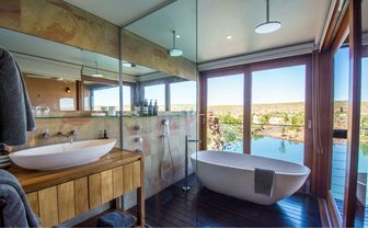 Gorge view bathroom
