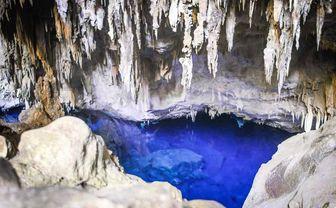 Blue grotto stalactites