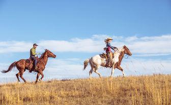Riding across the plains