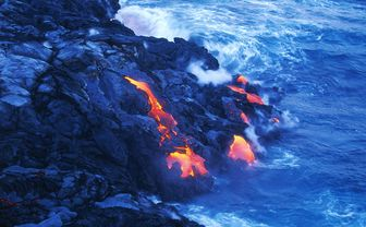 Lava in the sea