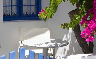 Santorini blue gate