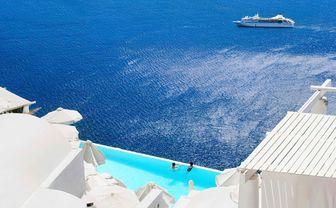 Santorini clifftop pool