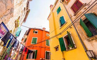 Rovinj colourful houses