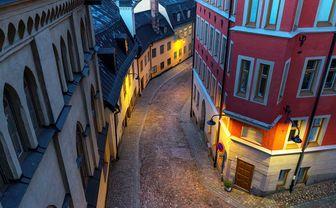 Stockholm winding street