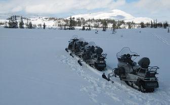 Snowmobiles in Sweden
