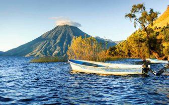 Lake Atitlan, San Pedro Volcano