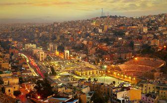 Night view of Amman