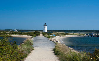 Lighthouse path in Cape Cod