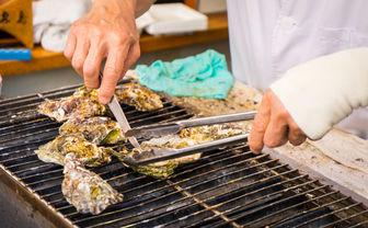 Oysters on Miyajima
