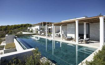 Villa pools at Amanzoe