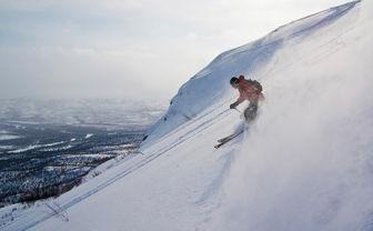 Swedish Lapland skiing off piste