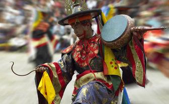 Damaru drum dance