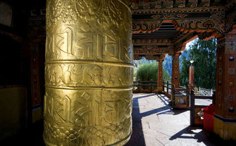 The interior of a typical Paro dzong