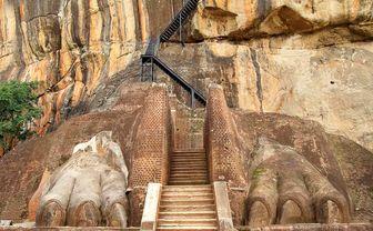 Feet at Sigiriya Rock Fortress