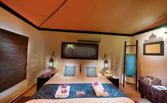 Bedroom at Desert Nights Camp