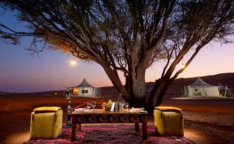 Private dining at Desert Nights Camp