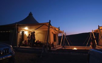 Tented suite at Desert Nights Camp