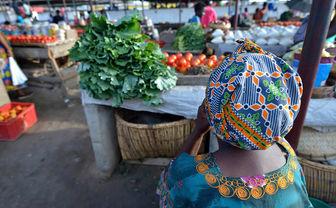 Seller at market