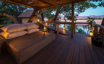 Romantic bedroom with a view