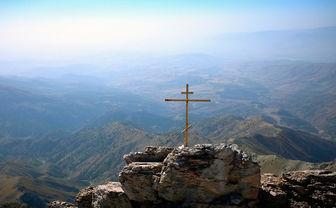 Cross in rock
