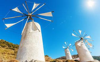 Three windmills in Crete