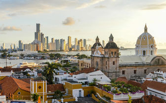 Sunset over Cartagena