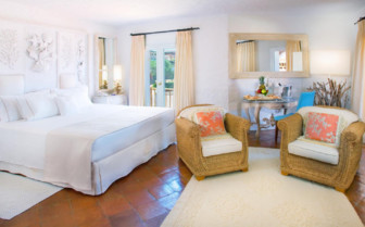 Bedroom at Hotel Cervo, luxury hotel in Sardinia, Italy