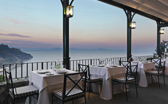 Rossellinis restaurant at sunset