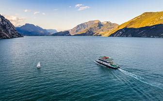 Car ferry on Lake Garda