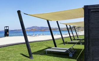 Private beach cabanas
