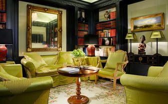 The lounge area at D'Inghliterra, luxury hotel in Rome, Italy