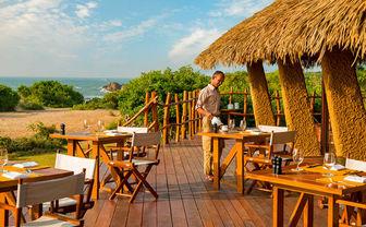 Chena Huts Brasse restaurant terrace