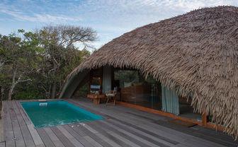 Chena Huts cabin plunge pool