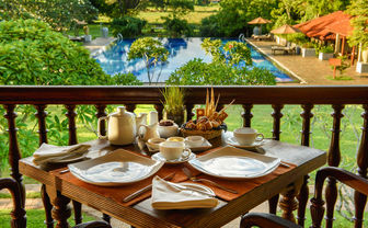 Breakfast overlooking main pool