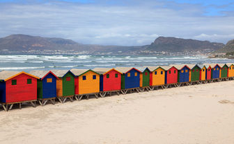 South Africa beach huts