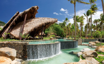 Picture of relaxation area at Laucala Island